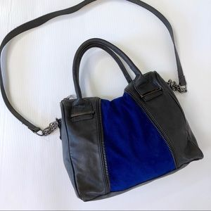 Steve Madden Satchel Crossbody Bag Leather & Suede